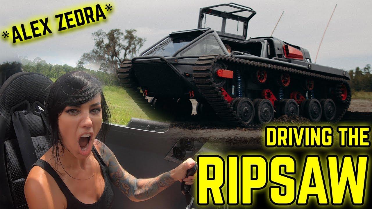 Real Life MARA DRIVES the RIPSAW TANK! *INSANE*