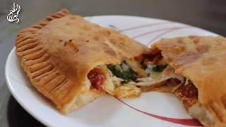 Deep-Fried Pizza / Pizza puff بيتزا مقلية او فطيرة البيتزا