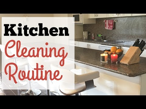 Daily Kitchen Cleaning Routine 2017 | Indian NRI Mom kitchen
