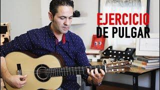 COMO CALENTAR CON EJERCICIO DE PULGAR, TUTORIAL (Jerónimo de Carmen) Guitarraflamenca