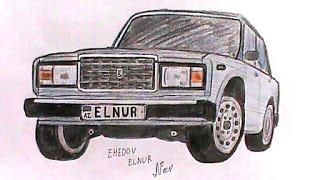 ABUNE OL  - Подписывайтесь  VAZ-2107  sekli nece cekilir(Ehedov Elnur)Как нарисовать ВАЗ-2107_Рисуем семерку поэтапно  Production Music courtesy of Epidemic Sound!