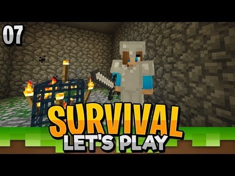 2 ZOMBIE SPAWNERS?!! - Minecraft Bedrock Survival Let's Play EP.7 (PE WIN10)