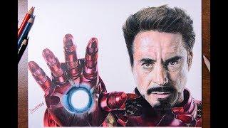 Download Drawing Time Lapse   Tony Stark (Iron Man)   DrawItMild Video