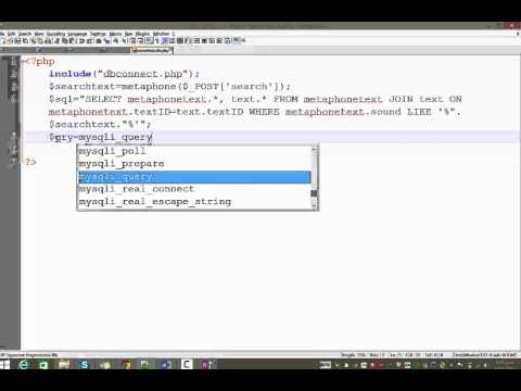 3. How to create a more advanced search engine using php, mysql and phonic matching