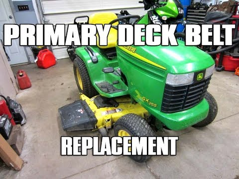 HOW-TO Primary Deck Belt Replacement On John Deere Lawn Tractor