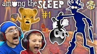 AMONG THE SLEEP!  My Teddy Bear is ALIVE! FGTEEV Tired Chase & Duddy