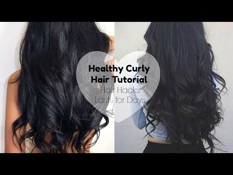 HOW TO CURL YOUR HAIR  & MAKE IT LAST | Healthy Curly Hair Secrets + Volume with Straightener
