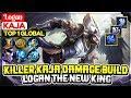 Download  Killer Kaja Damage Build, Logan The New King [ Top 1 Global Kaja ] Logan - Mobile Legends MP3,3GP,MP4