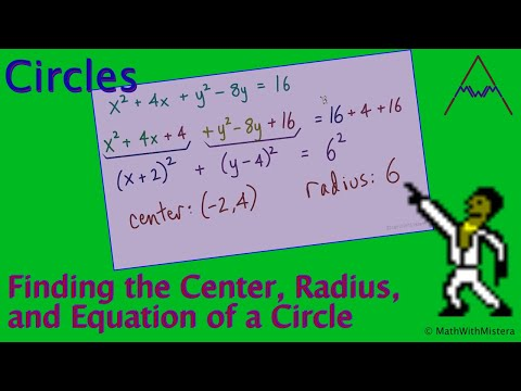 Find the Radius, Center, and Equation of a Circle -- Part 1