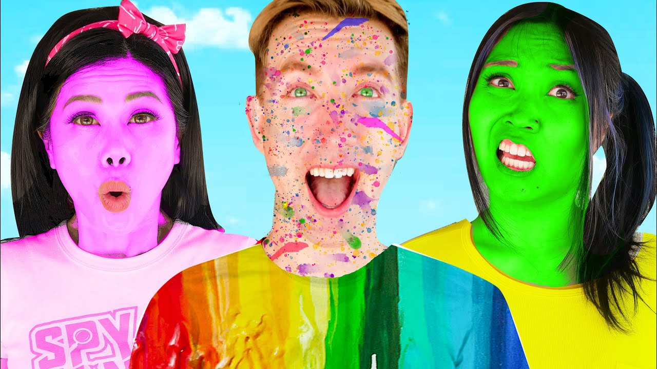 YOU LOSE = PAINT YOUR BODY - First To Finish Art School Wins Funny Painting Drawing Challenge!