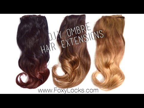 How To: D.I.Y Ombre Hair Extensions using Home Dye Kit
