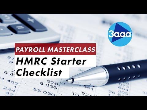 Payroll Masterclass | HMRC Starter Checklist