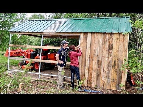 Trying to Beat the Rain (Siding the Goat Barn)