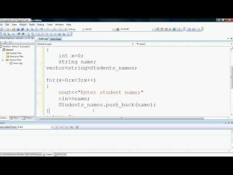 vectors in C++