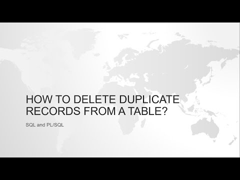 HOW TO IDENTIFY AND DELETE DUPLICATE ROWS USING ROWID AND GROUPBY IN ORACLE SQL