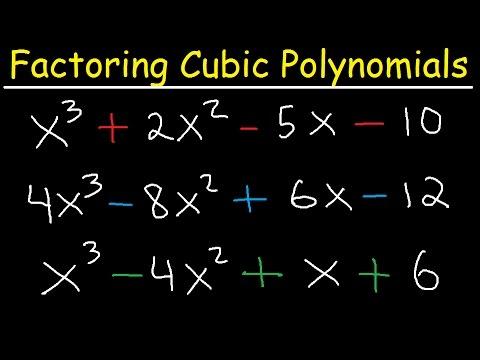 Factoring Cubic Polynomials- Algebra 2 & Precalculus
