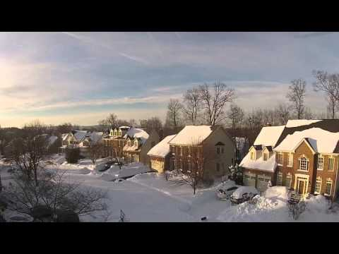 Drone footage - Blizzard 2016 - Sterling Virginia