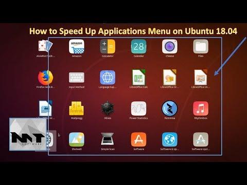 How To Speed Up Applications Menu on Ubuntu 18.04