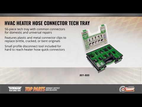 HVAC Heater Hose Connector Tech Tray