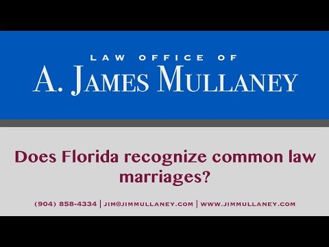 Does Florida recognize common law marriages?