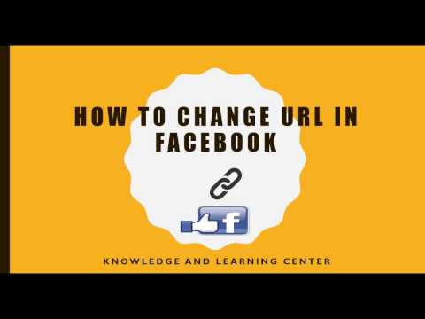 How to change URL of Facebook fan Page 2017 (Really Easy)