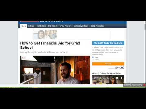 How to Get Financial Aid for Grad School