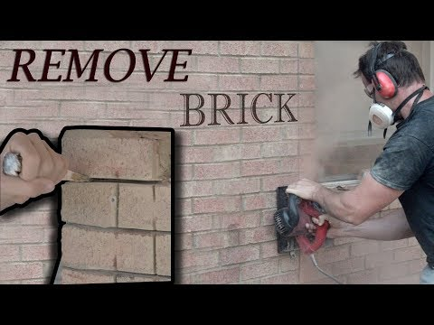 How To Remove Brick.. Porch to Room Addition Project Vid#2