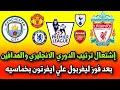 ترتيب الدوري الانجليزي اليوم و🔥 ترتيب هدافي الدوري الانجليزي بعد مباراة ليفربول وايفرتون