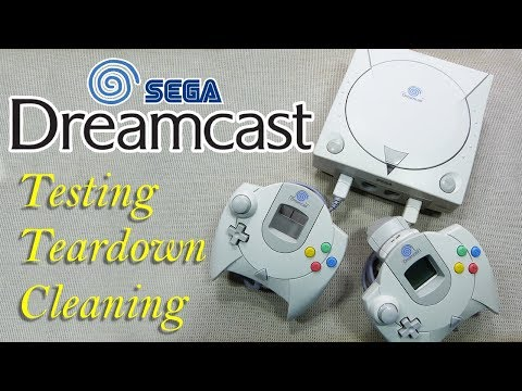 Sega Dreamcast Quick look, Teardown, and cleaning