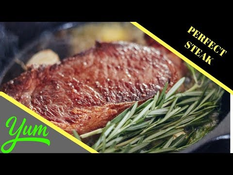 How to Cook a Ribeye Steak in a Cast Iron Skillet | Perfect Steak Recipe | Butter Basted Seared