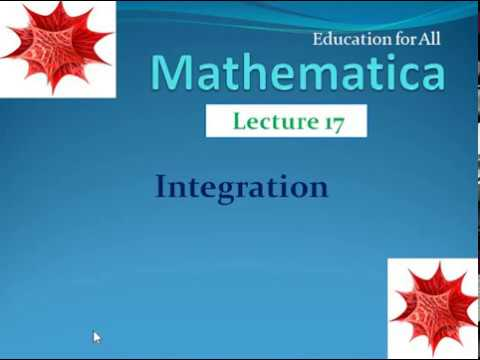 Lecture .17: Integration  in mathematica