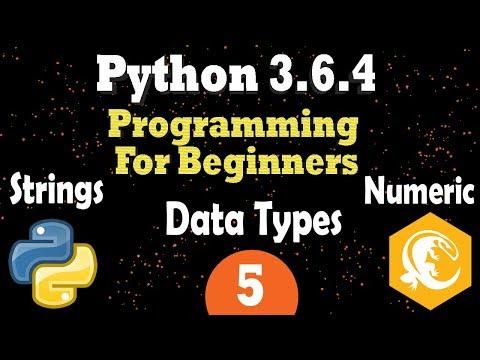 Python 3 Data Types - String Type (fstring) - Numeric Types |  Programming Tutorial For Beginners
