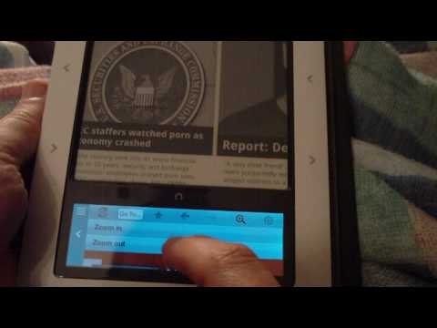 Tour of the nook's new 1.3 operating system