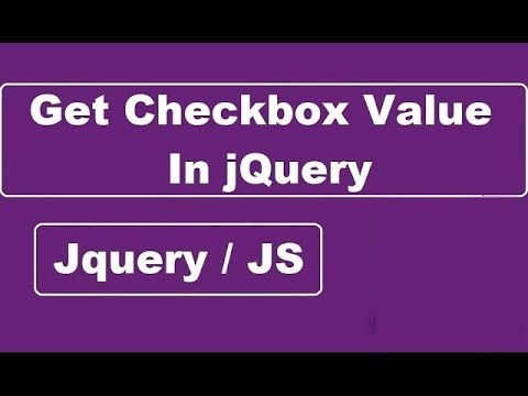 Get Checkbox Value In jQuery