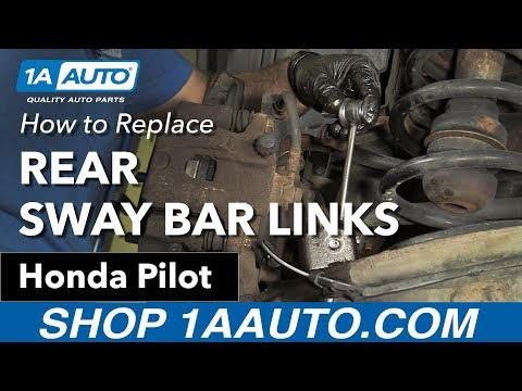 How to replace Install Rear Sway Bar Links 03-08 Honda Pilot