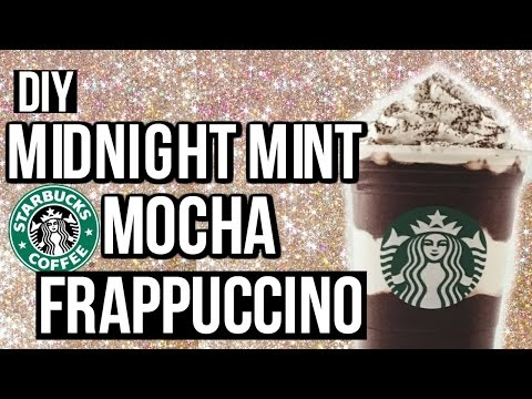DIY MIDNIGHT MINT MOCHA FRAPPUCCINO | Cartney