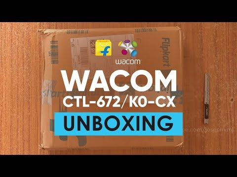 One By Wacom CTL-672/K0-CX | Flipkart Unboxing