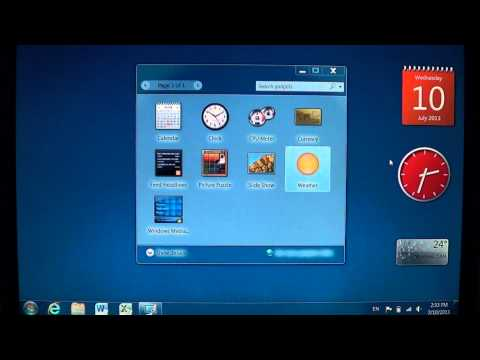 Windows 7   How to add remove and move gadgets