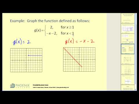Interpreting and Graphing Piecewise Functions