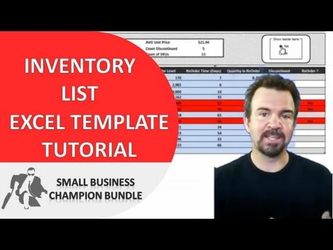 Inventory Spreadsheet Template - Excel Product Tracking