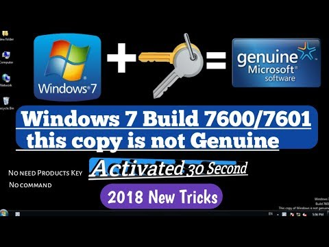 Activate Windows 7 in One Click | All Versions 2018