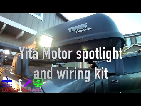 DIY -Install and wiring Roof Rack LED lights -  under $50 total