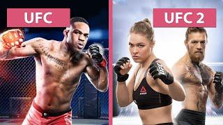 UFC vs. UFC 2 – Graphics Comparison captured on PS4