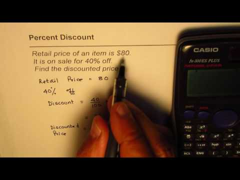 How to find discounted price from Retail price and Percent discount