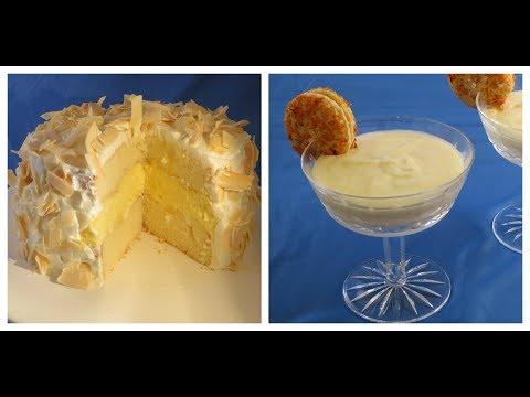 Pineapple Bavarian Cream Cake Filling