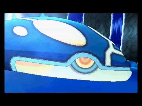 Pokemon Omega Ruby/Alpha Sapphire - Catching Kyogre (battle and cutscene)