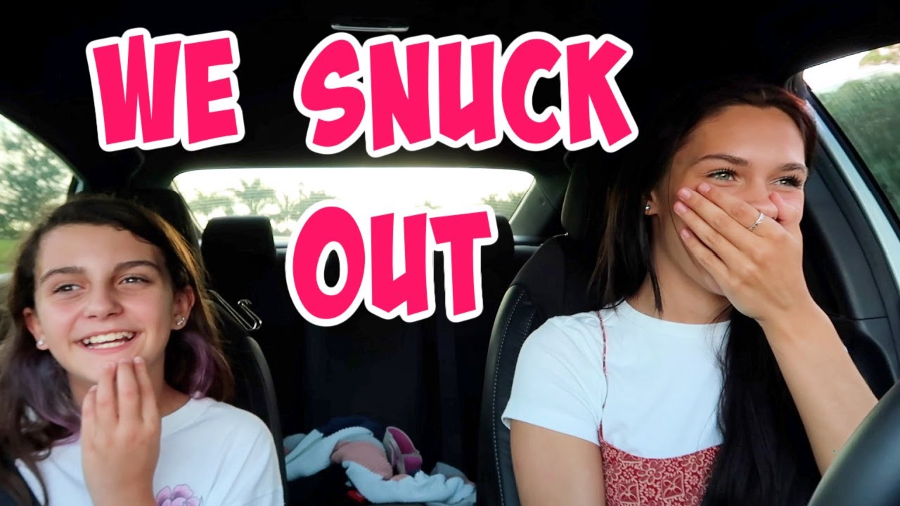 SNEAKING OUT OF THE HOUSE! DO WE GET CAUGHT? EMMA AND ELLIE