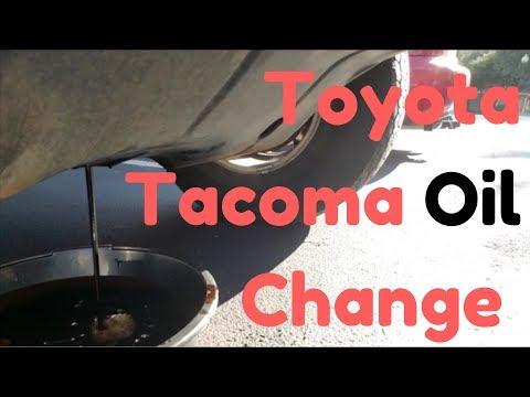 Toyota Tacoma OIL CHANGE | Clean and Simple