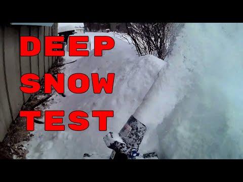 MAJOR PASS - SnowJoe ION18SB Lithium Snowblower Re-Review Deep Snow