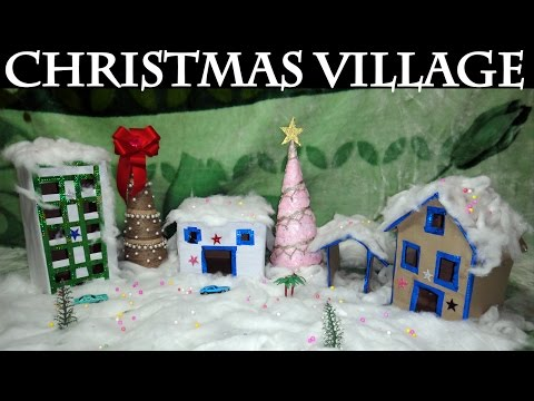 🎄 DIY Christmas Decorations | Easy DIY Christmas Village Tutorial 🎄